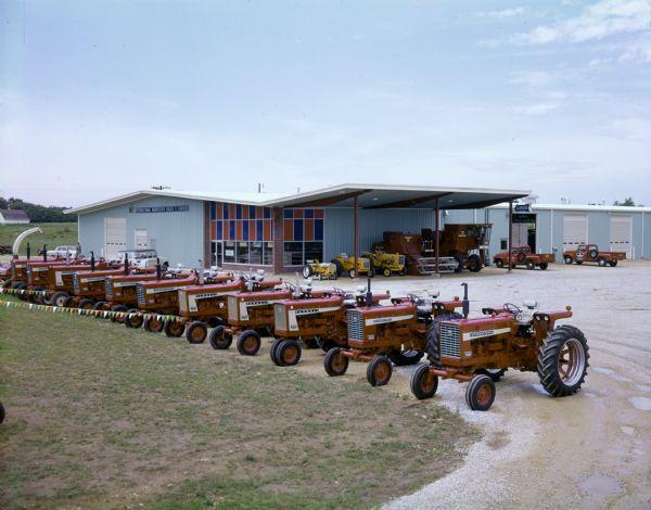 Tractors outside International Harvester Dealership
