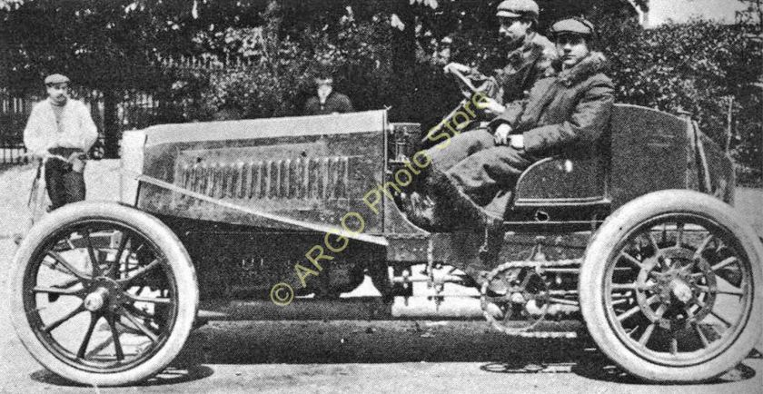 1903 mr063 MOTOR RACING 1903 Panhard Levassor Farman Paris motorsport car photo