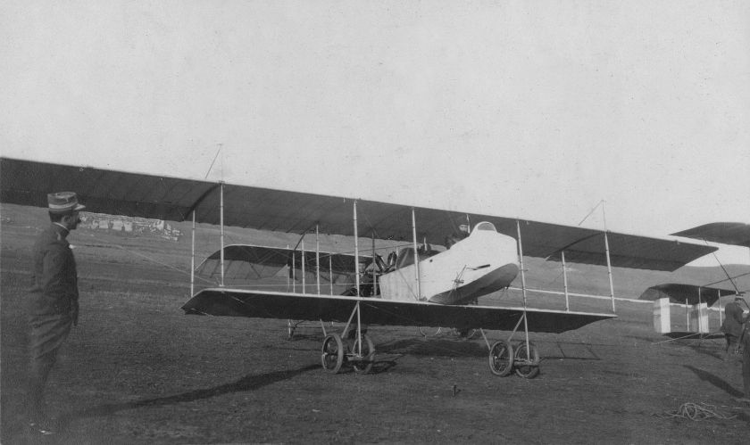 1912 HF.20 biplane at Nicopolis airfield, near Preveza, in December 1912 IAN 2332
