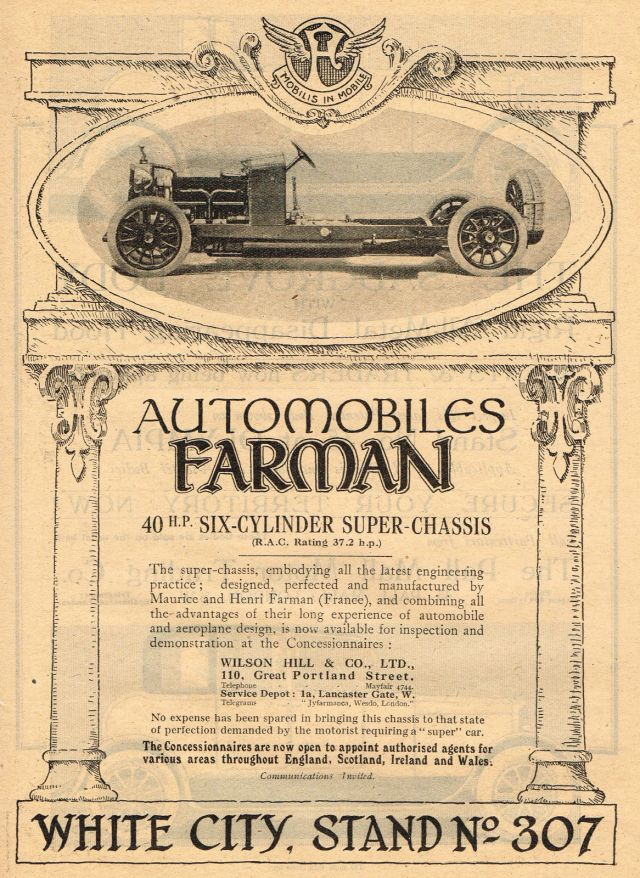 1920-old-original-vintage-farman-super-chassis-car-automobile-auto-art-print-ad