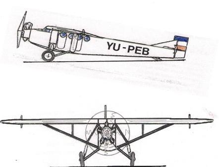 1928 Farman F.190 Skica