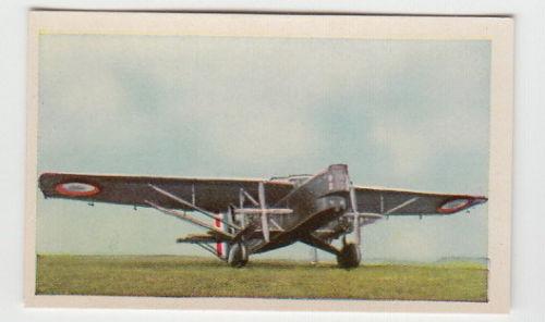 1934 Airplane Card Farman F 211 France French Air