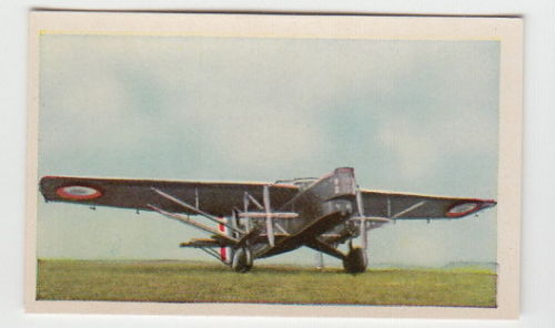 1934 Airplane Card Farman F 211 France French Air