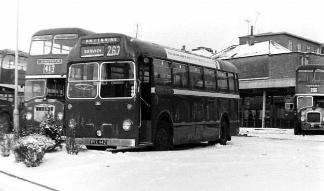 1965-bristol-ls5g-wvx442-in-the-snow-at-kettering-bus-station-in-the-late-1960s-ex-eastern-national-in-july-1965
