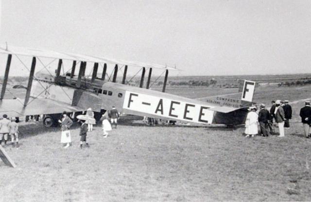 Crash of a Farman F.60 Goliath in Valenciennes F-AEEE