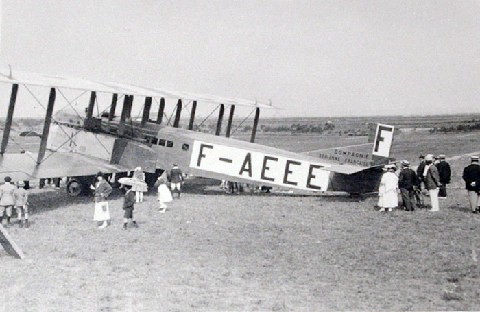 Crash of a Farman F.60 Goliath in Valenciennes F-AEEE