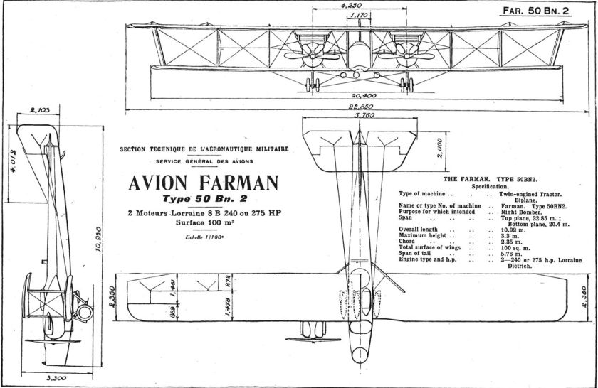 Farman 50 Bn.2 two seat twin engine night bomber