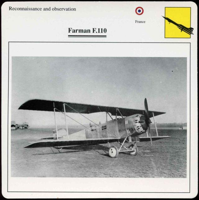 Farman F.110 card