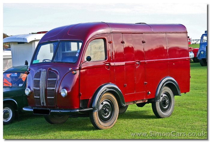 Austin K8 Three-Way.  Known as the 'Three-Way' Van because it had doors at the back and on both sides, the K8 was built from 1948-54 with bodywork by Carbodies.