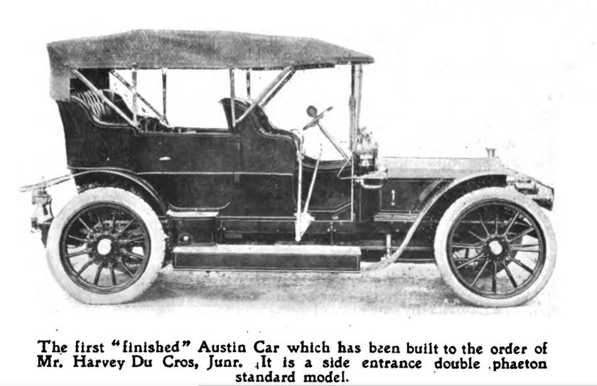 austin-motor-co-first-finished-car