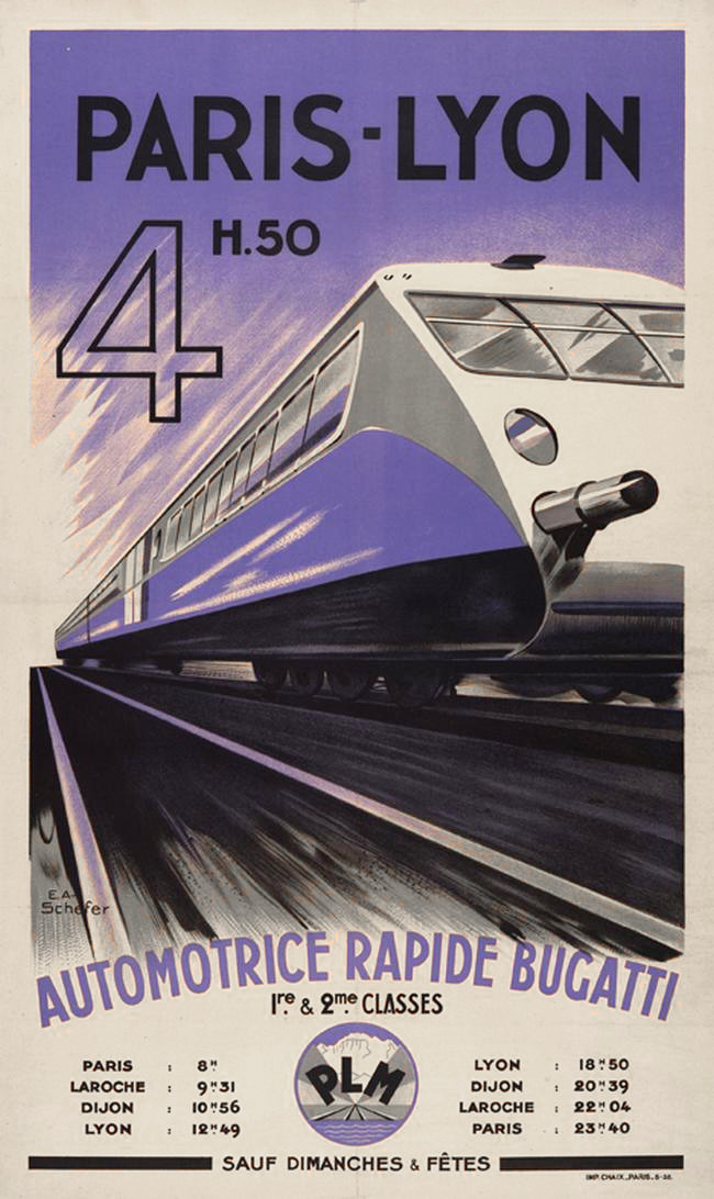 bugatti-affiche-paris-lyon-4h50-automotrice-rapide-bugatti