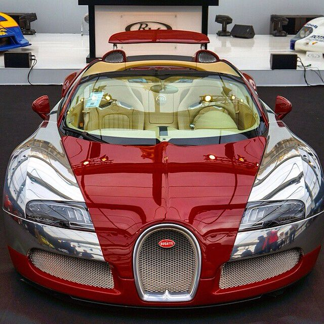 red-on-chrome-bugatti