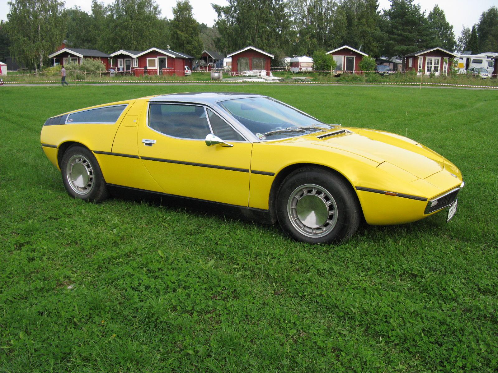 Maserati Bora Yellow