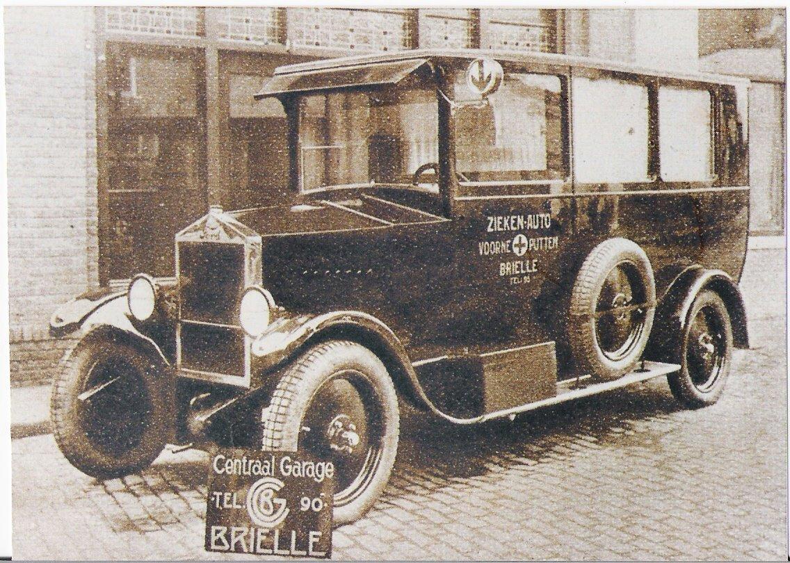 1927 Ziekenauto Gebaseerd Op Een T Ford Vracht Auto Chassis