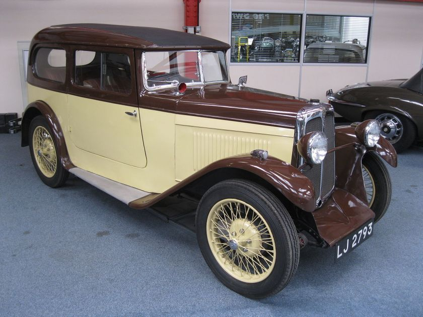 1930 Standard Swallow 2-door sports saloon on a Big Nine chassis