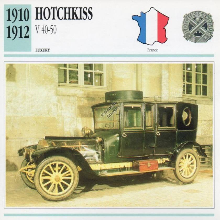 1910-1912 HOTCHKISS V 40-50 Classic Car
