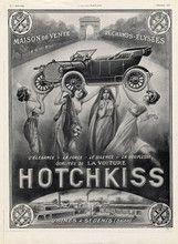 1912 Hotchkiss Alex Lagé, Arc De Triomphe, Champs-Elysées