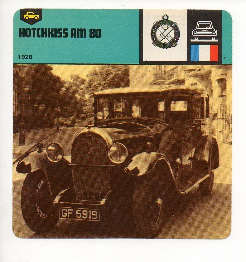1928 Hotchkiss AM 80 - The Vehicles - GT & Production - Auto Rally Card