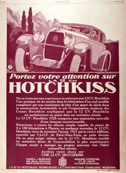 1928 Hotchkiss Sedan ad