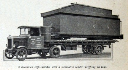 1928 Scammel eight-wheeler with a locomotive tender weighing 16 tons