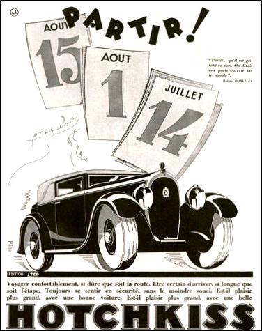 1930 Hotchkiss 1930 partir ad