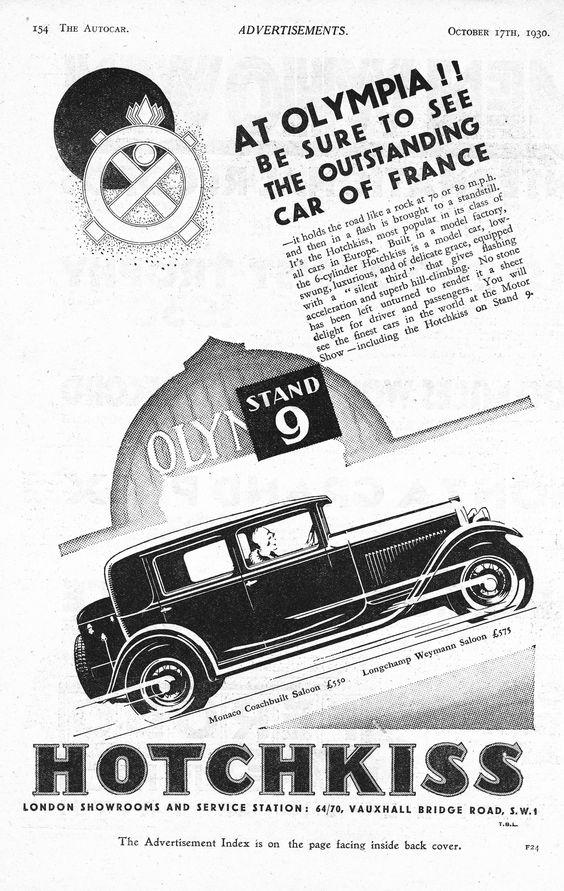 1930 Hotchkiss ad