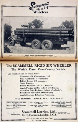 1930 Scammel Rigid six-wheeler ad