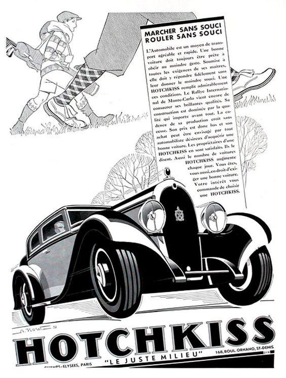 1932 Hotchkiss Le juste milieu ad
