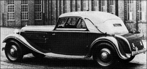 1933 Audi front sport cabrio glaser