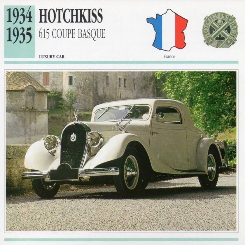 1934-1935 HOTCHKISS 615 COUPE BASQUE
