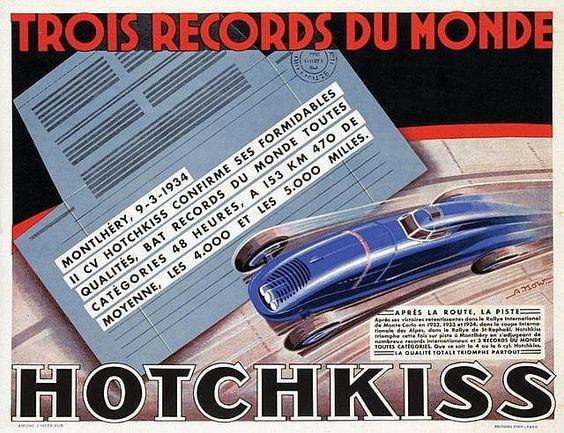 1934 Hotchkiss record race ad