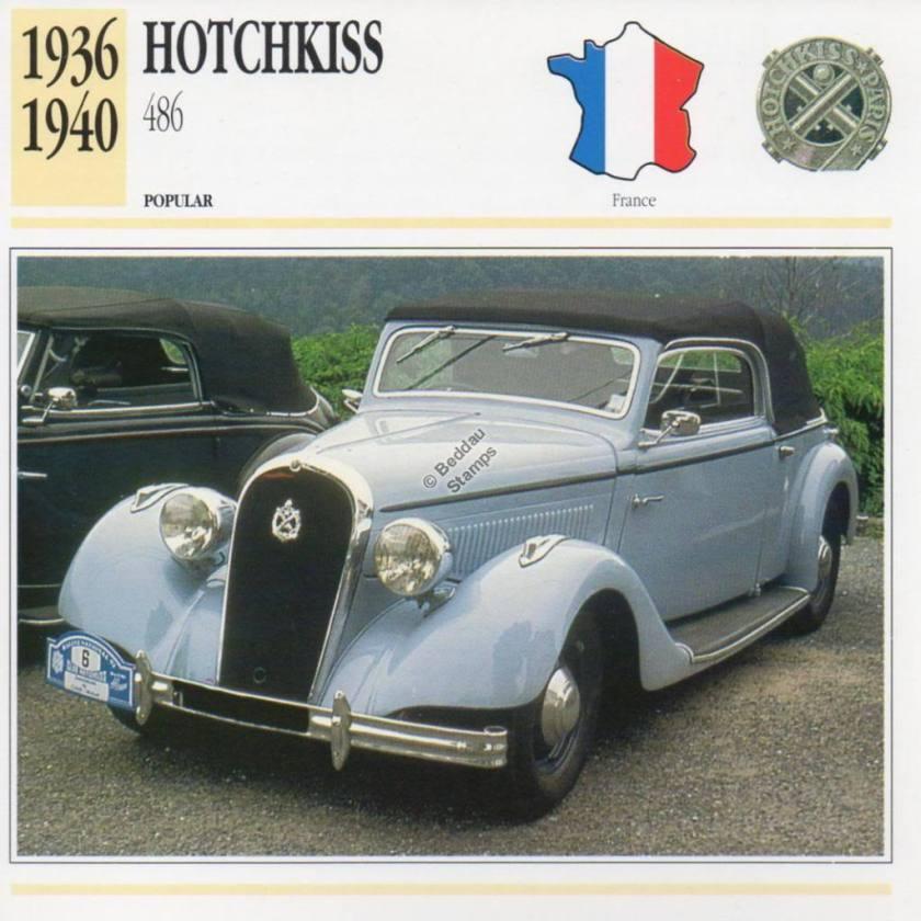1936-1940 HOTCHKISS 486 Classic Car