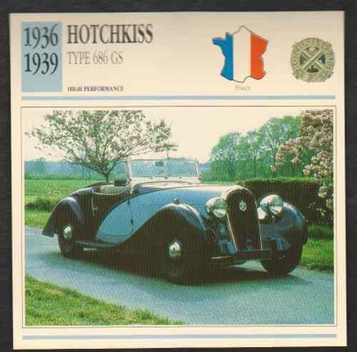 1936-39 Hotchkiss Type 686 GS, 1936-39