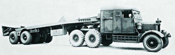 1937 Scammell Pioneer TRMU20 (6x6) semi-trailer truck with Schelvoke & Drewry semitrailer