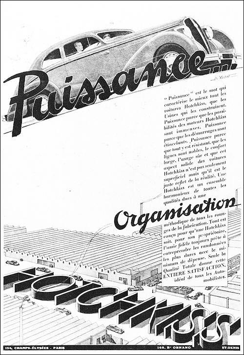 1938-1939 Hotsckiss Puissance Organisation