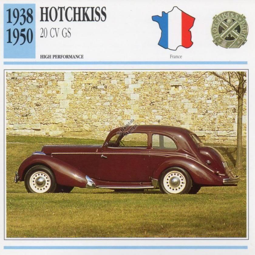 1938-1950 HOTCHKISS 20 CV GS Classic Car
