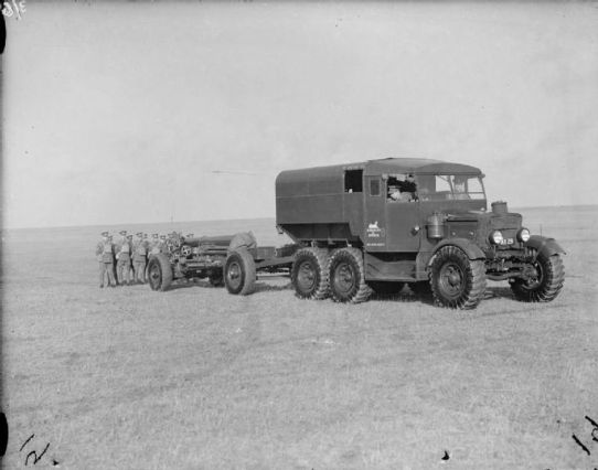 1938 60 pdr MkII Towed By Scammell Tractor
