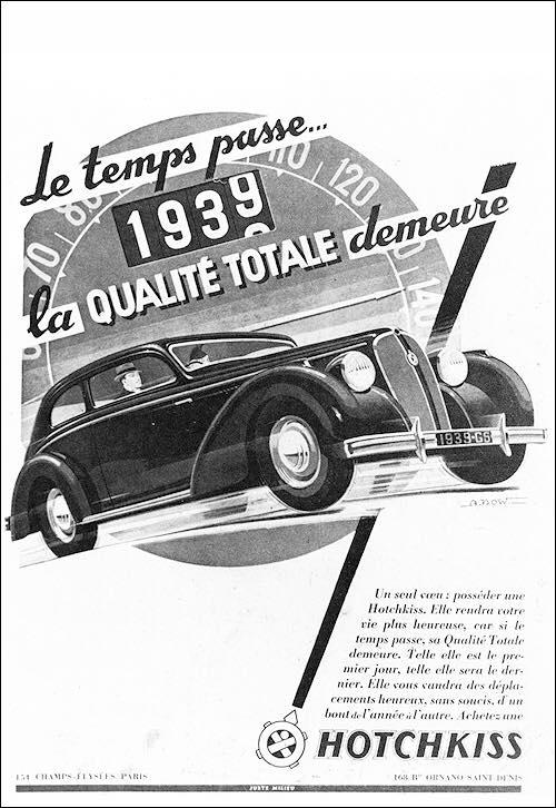 1939 Hotchkiss Le temps passe la qualite totale demeure