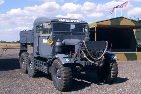 1944 Scammell Pioneer recovery vehicle – in RAF livery. (Preserved, 2002)