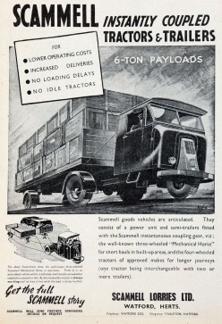1948 Scammell Lorries Ltd ad