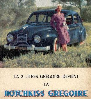 1950 Hotchkiss Gregoire ad