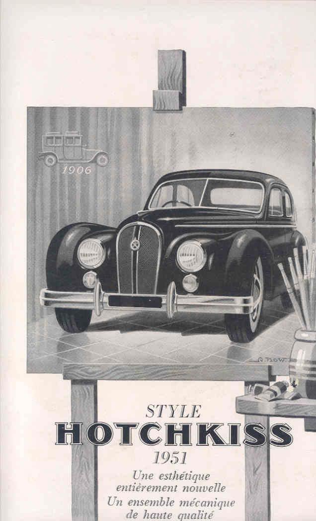 1951 Hotchkiss & Cadillac Buick Chevrolet France Ad wi3816-S8SRKI