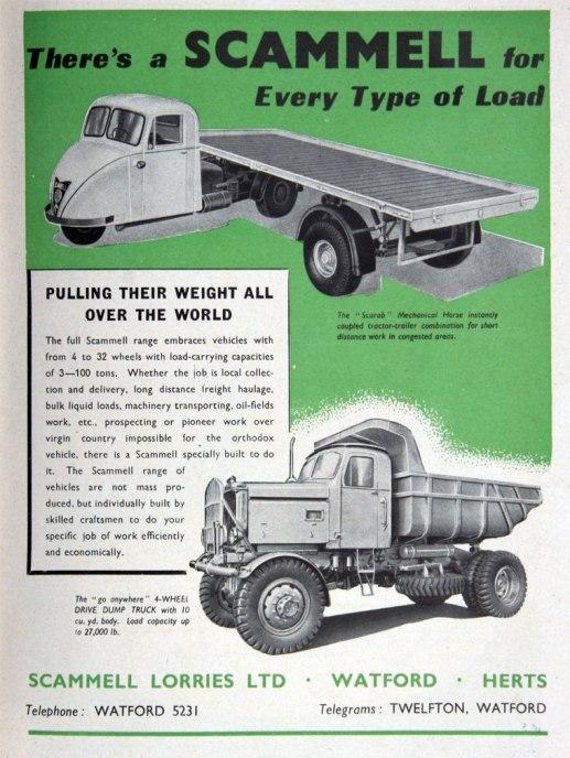 1951 Scammel ad