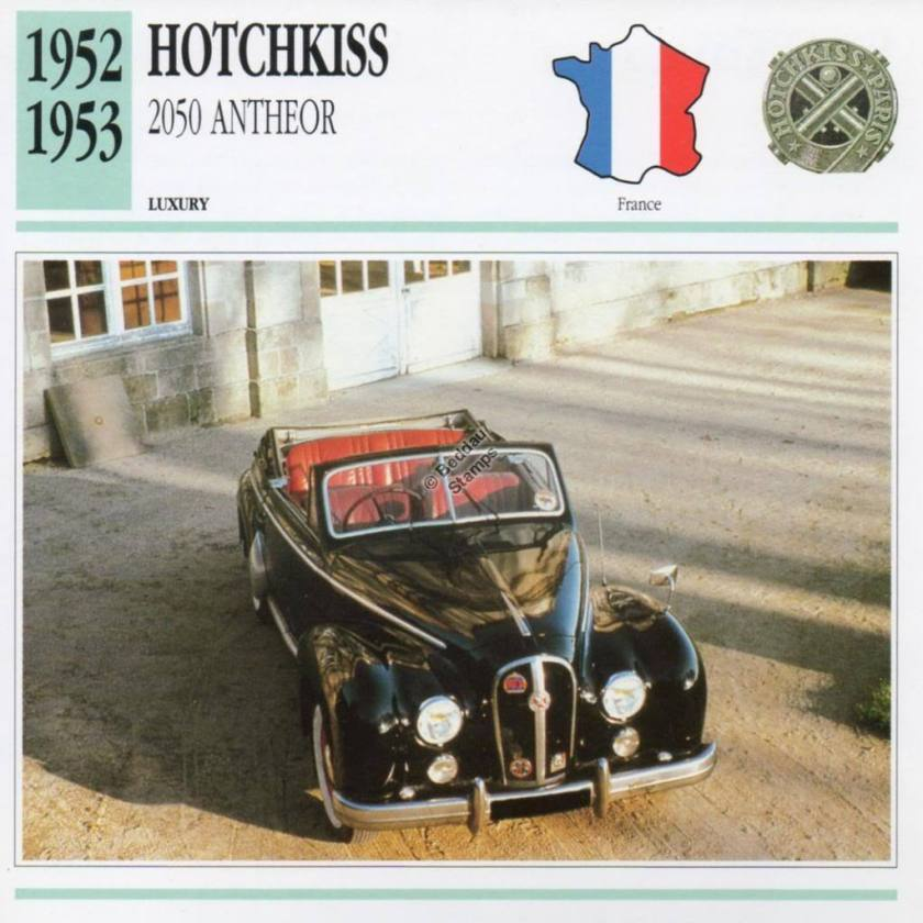1952-1953 HOTCHKISS 2050 ANTHEOR