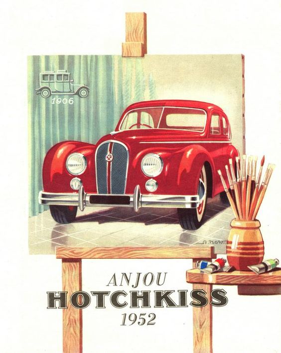 1952 Advertising Hotchkiss Anjou