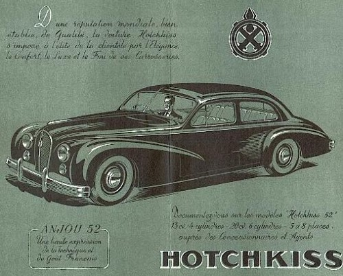 1952 Hotchkiss 13-50 anjou berline