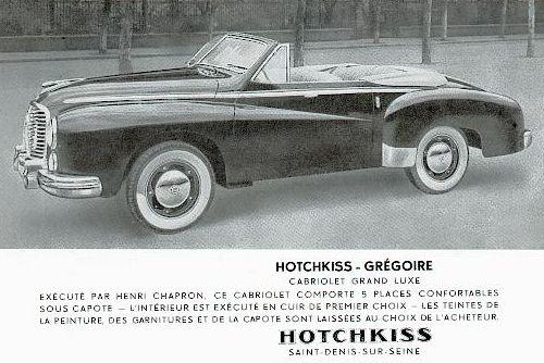 1952 Hotchkiss Gregoire cabrio