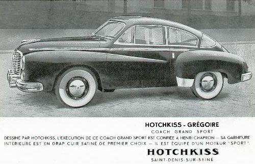 1952 Hotchkiss gregoire coach