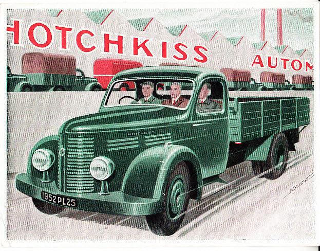 1952 HOTCHKISS PL25 TRUCK BROCHURE a