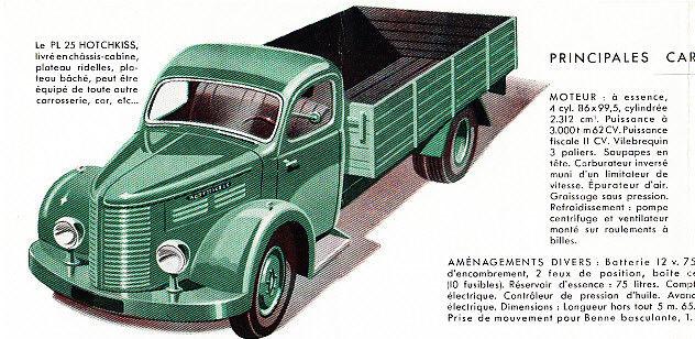 1952 HOTCHKISS PL25 TRUCK BROCHURE b